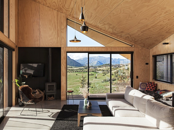 A search on Love Home Swap might turn up this house near Queenstown, New Zealand, named Best Small Home in 2016 by New Zealand's Home magazine.