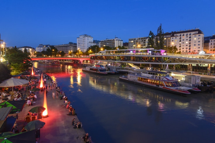A stylish evening out at Motto am Fluss in Vienna