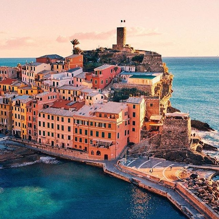 Vernazza is most beautiful at sunset