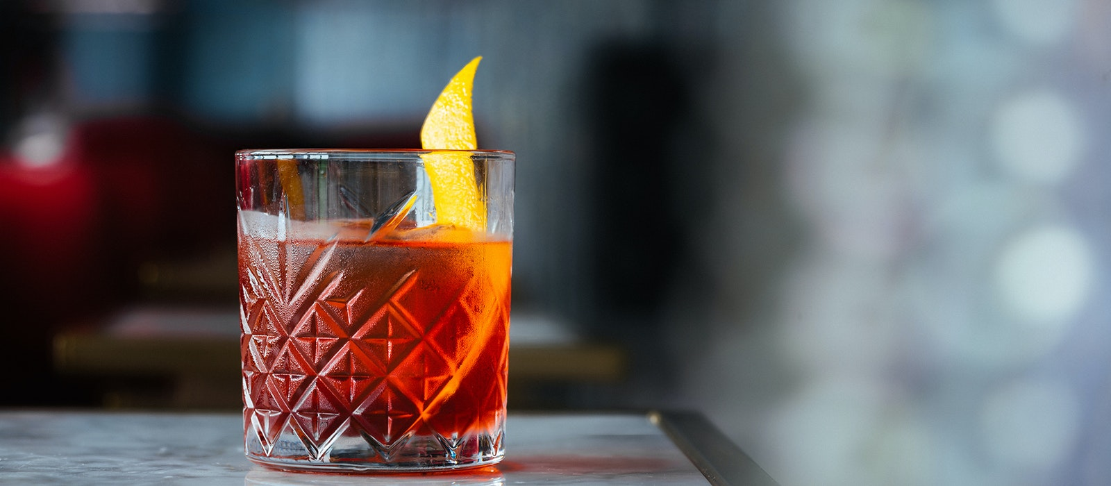 A classic Negroni at New York's Dear Irving on Hudson bar