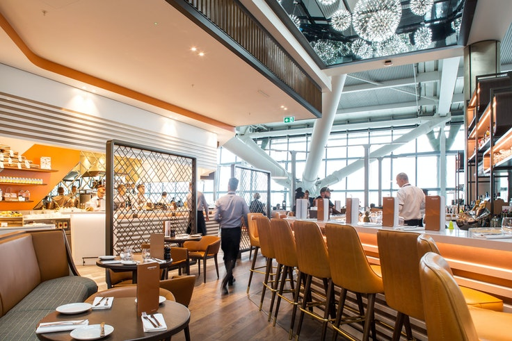 Travelers at London's Heathrow Airport can sit down for a proper feast or pick up a gourmet picnic at the recently revamped Gordon Ramsay Plane Food, in Terminal 5.