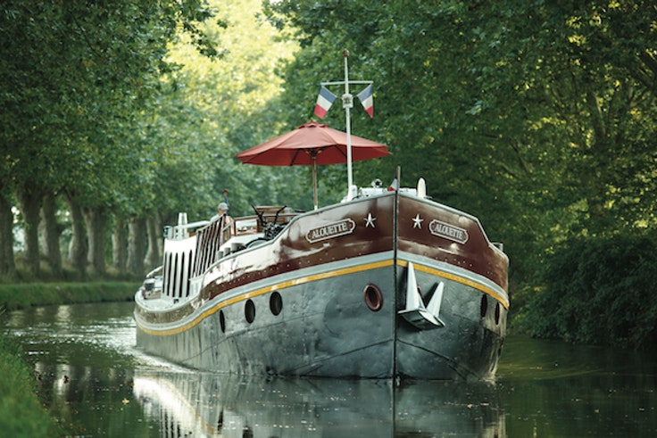 The Belmond Alouette—one of five barges used for Belmond Afloat in France trips.