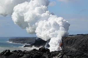 Collapse at Hawaii National Park Creates Incredible New Lava Activity