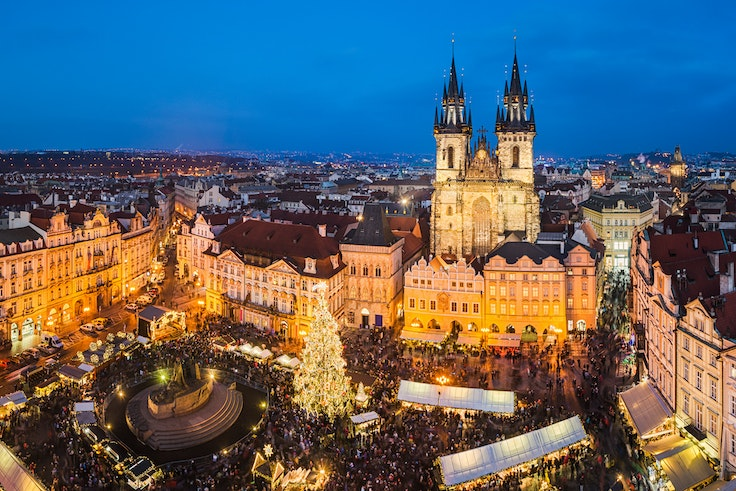 Prague's largest Christmas markets are open every day from the start of December to early January, including on Christmas Day.