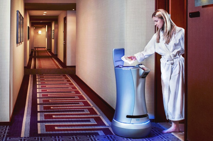 Relay the robot is delivering towels and other small items at hotels in California