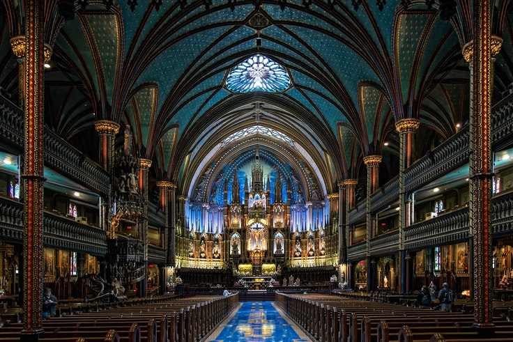 Notre Dame Basilica is just one of the many historic churches in Montreal that are finding creative ways to preserve their heritage.