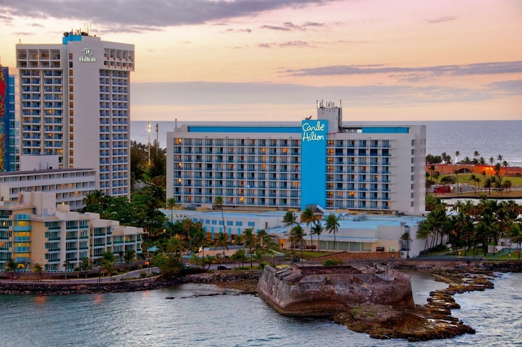 Puerto Rico's famous Caribe Hilton is back in action.
