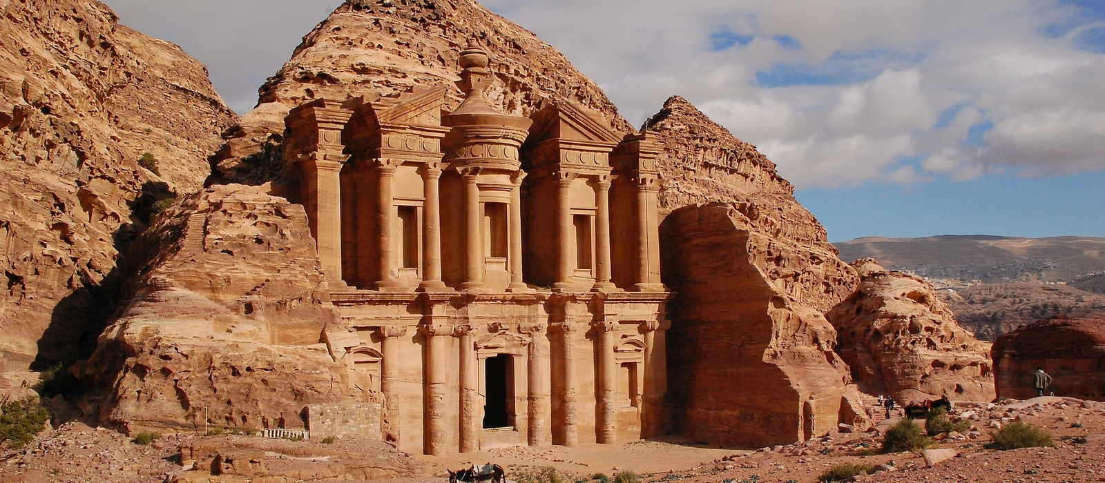 The Petra Monastery is one of the sites along the route of the Jordan Trail.