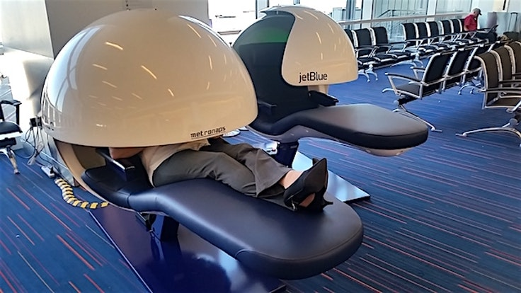 New nap pods at the JetBlue terminal in JFK let flierscatch a quicksiesta