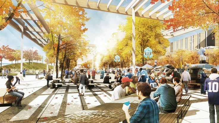 Finalists in the Detroit Riverfront Conservancy's West Riverfront Park design competition include James Corner Field Operations.