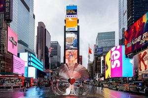 In New York's Times Square, Public Art With Heart