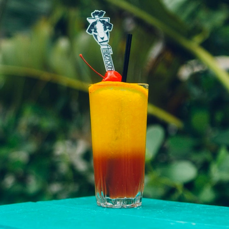 Tropical drink at The Anderson