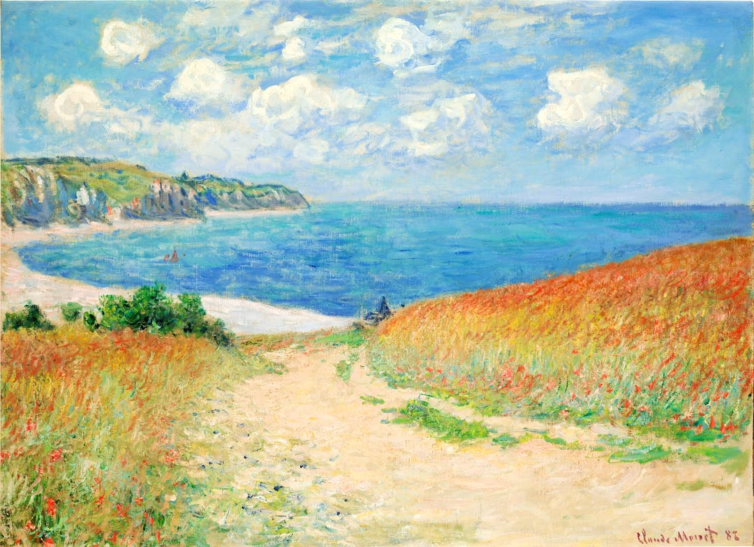 """Claude Monet's """"Path in the Wheat Fields at Pourville (Chemin dans les blés à Pourville)"""" from 1882 is among the 120 works on display at the Denver Art Museum through February 2020."""