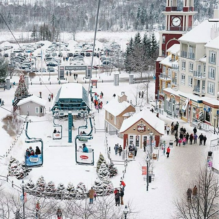 From the top of the ski lift, doesn't Mont Tremblant Village look like a toy village?