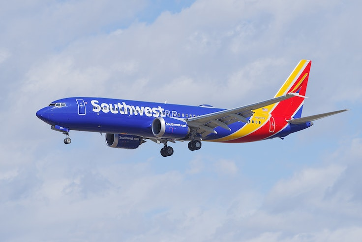One of Southwest's Boeing 737 Max 8 planes