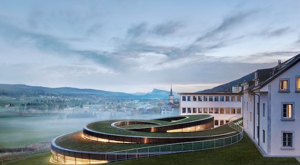This Spiral Museum Just Opened in a Swiss Alpine Village