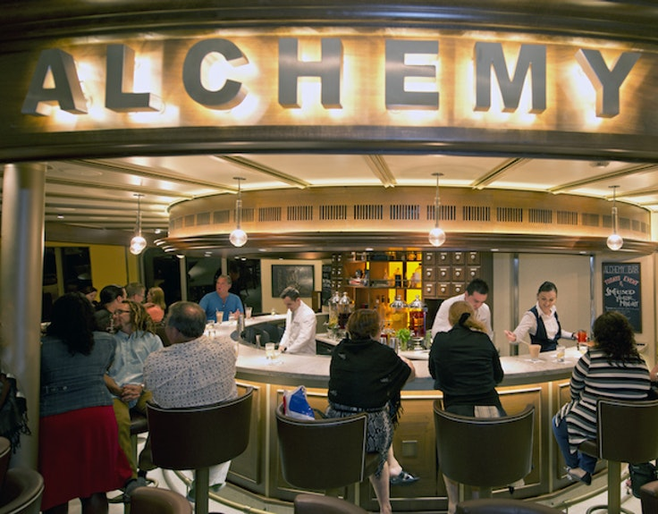 At Alchemy Bar mixologists craft cocktails to suit your mood