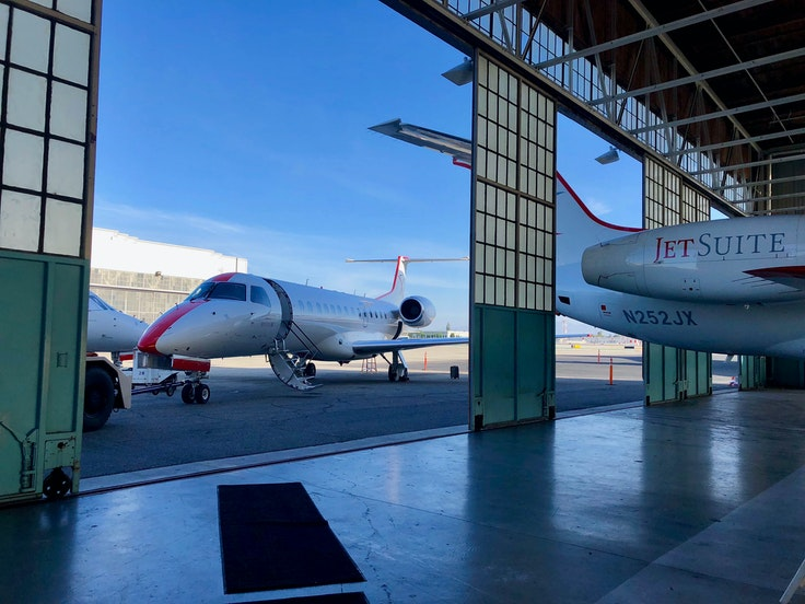 JSX (formerly JetSuiteX) allows travelers to purchase seats on short-haul West Coast private jet flights.