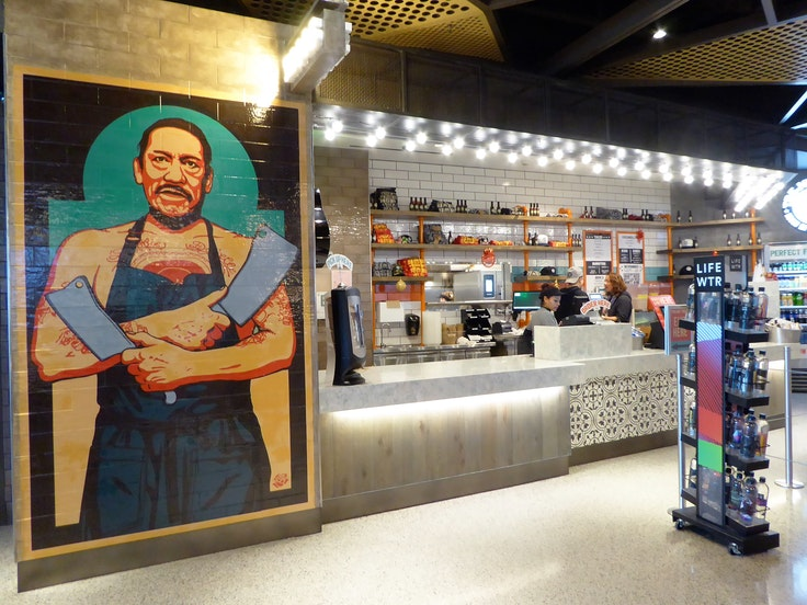 Taqueria chain Trejo's Tacos is located in Terminal 1 of Los Angeles International Airport.