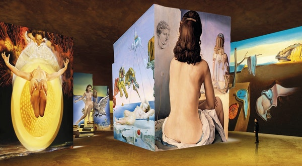 Dalí and Gaudí's Surreal Creations Become Psychedelic Installations at This Digital Art Museum