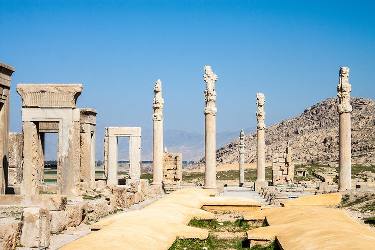 The carvings and palace of Persepolis were rediscovered in the 20th century.