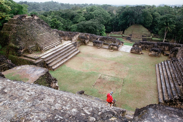 The Mayan city of Caracol in southeast Belize