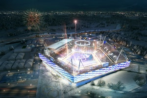 Meet the Winter Olympics' $100 Million Pop-Up Stadium
