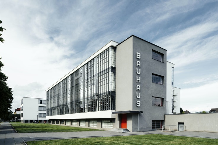 The Walter Gropius–designed Bauhaus Building in Dessau is one of many Bauhaus locations in central Germany designated as a UNESCO World Heritage site.
