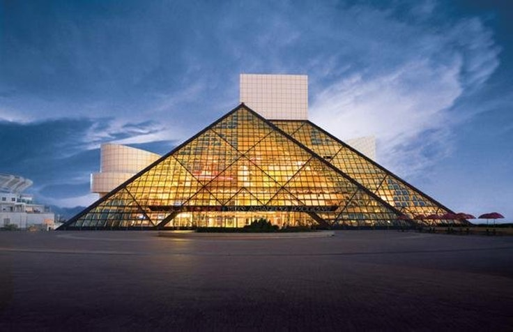 Rock& Roll Hall of Fame in Cleveland, Ohio