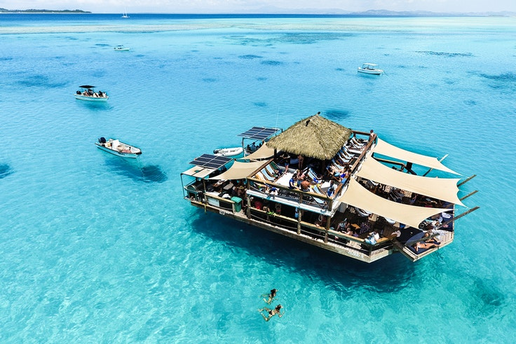 The Cloud 9 floating bar is the epitome of summer.