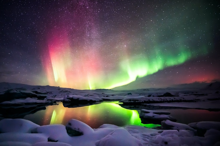 Winter in Iceland may be cold and dark—but it's prime time for viewing the Northern Lights.