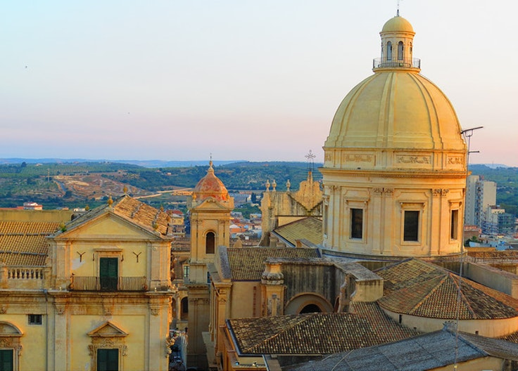 The sunset hues of Noto