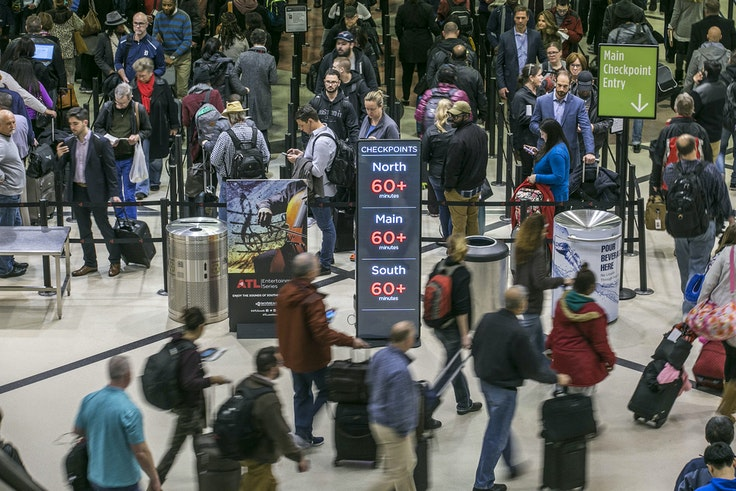 Security lines at Hartsfield-Jackson International Airport in Atlanta were more than an hour long, causing some travelers to miss flights on Monday, January 14.