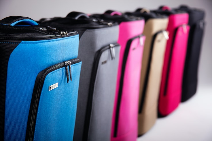 The very model of a modern suitcase, the colorful Barracuda offers GPS tracking, a USB charger, and a laptop tray.
