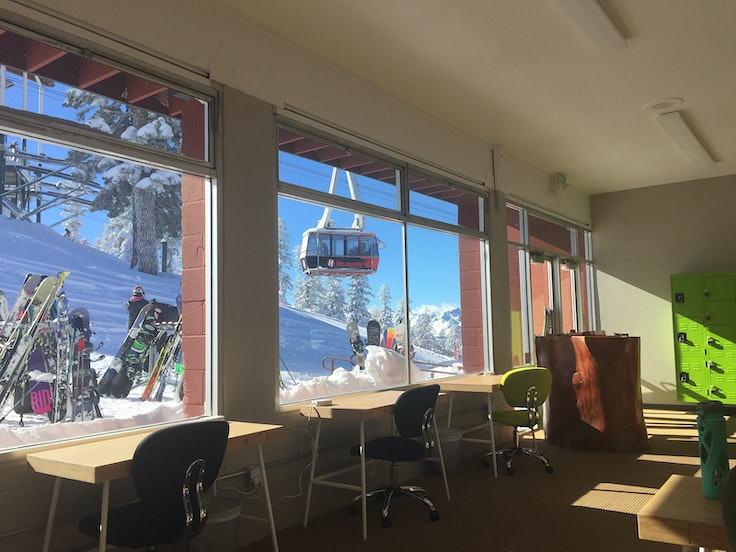 The new ski-in/ski-out coworking space at Heavenly Mountain Resort in South Lake Tahoe allows digital nomads to hit their deadlines then hit the slopes.