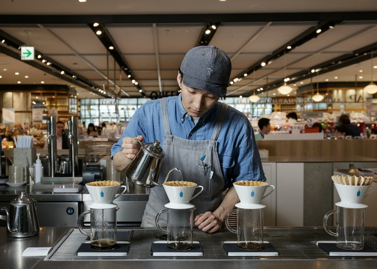 Bay Area–based Blue Bottle Coffee recently opened an outpost in Tokyo's Meguro neighborhood.