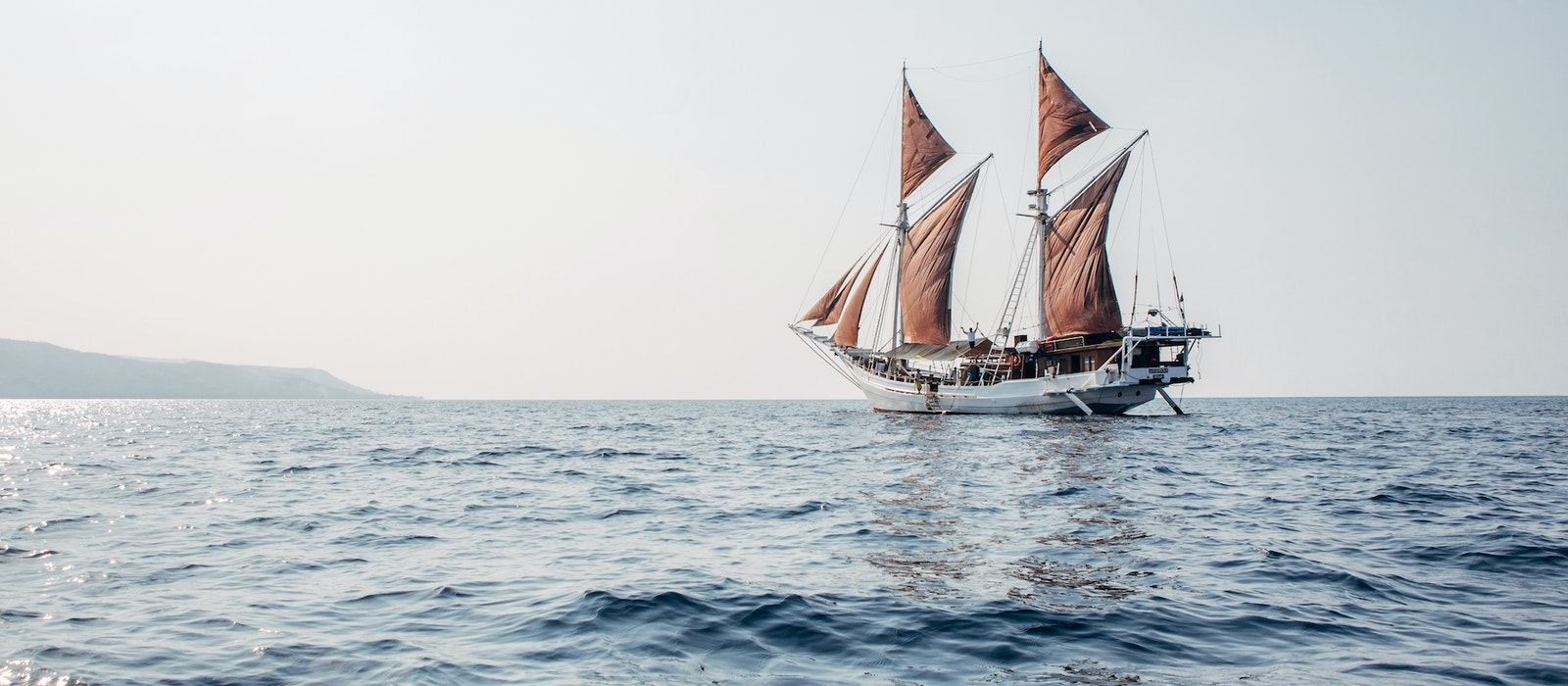 Unlike an ocean liner, the Katharina's ship body was built by hand in the style of traditional Indonesian fishing vessels.
