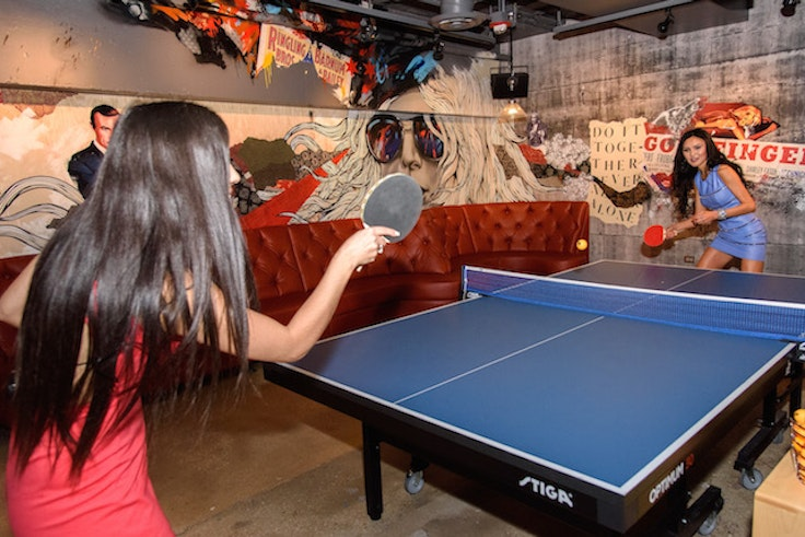 A game of Ping-Pong at Spin Chicago.