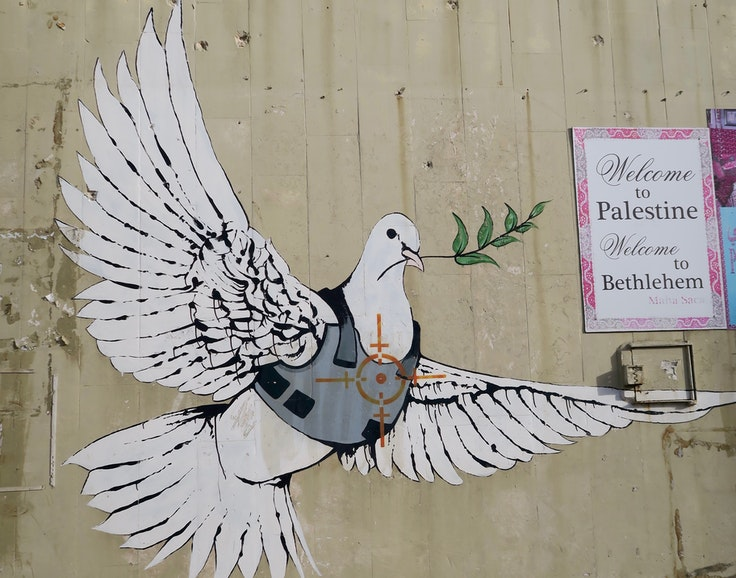 Banksy graffiti on the West Bank Wall