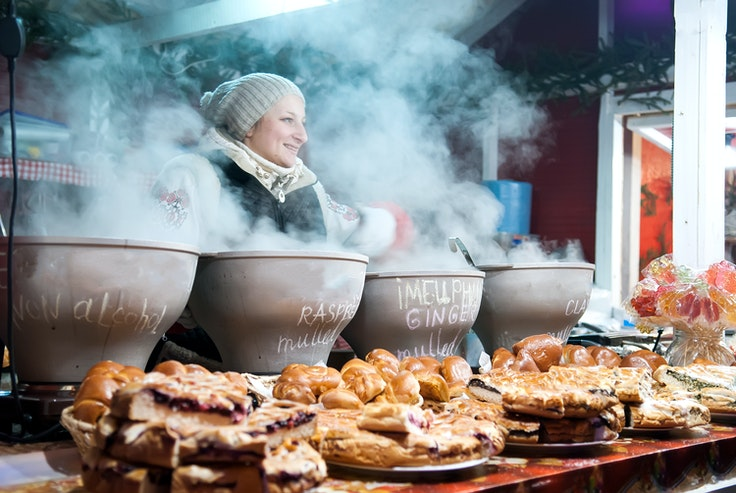 Find hot drinks like mulled wine and grog at Christmas markets across Europe.