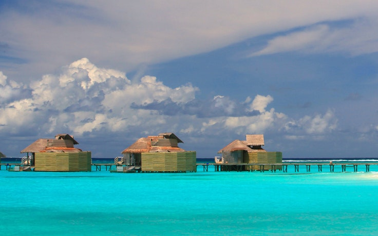 The overwater villas at the Six Senses Laamu in the Maldives, which is now part of the InterContinental Hotels Group portfolio.