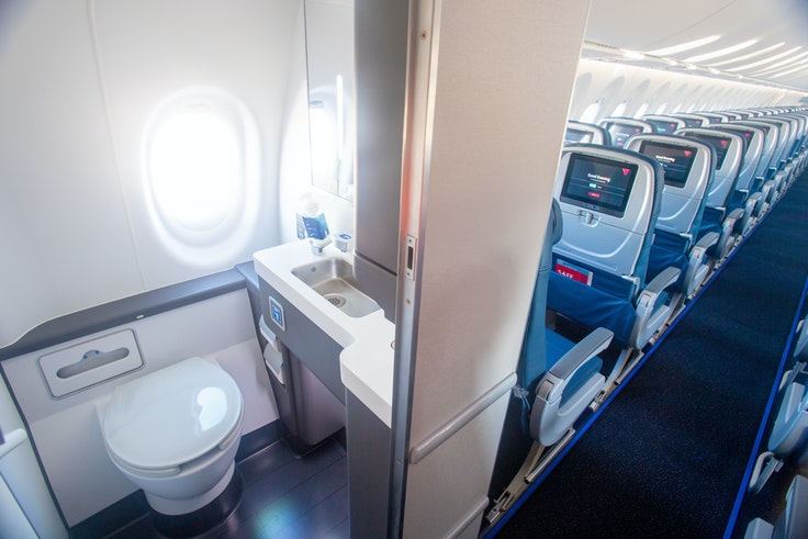 A bathroom with a view: Delta's new A220-100s will have a window in the lavatory.