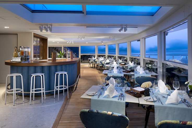 AmaMagna's alfresco restaurant is one of four dining venues onboard.