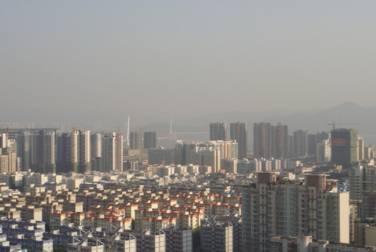 A view of Kowloon from Shenzhen.