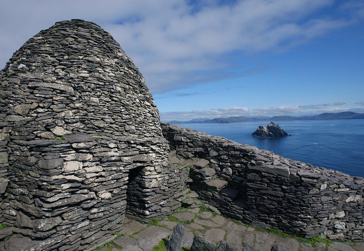 FromSkellig Michael's beehive huts, a view fit for a Jedi master.