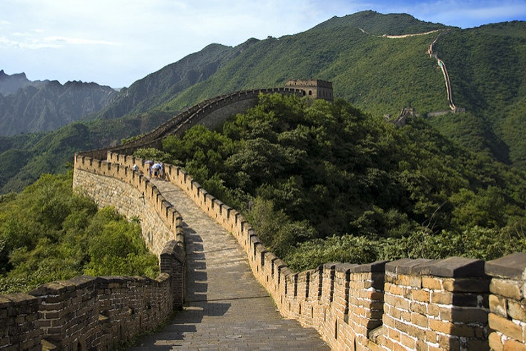 The Great Wall is one of 13 stops on this airborne adventure.