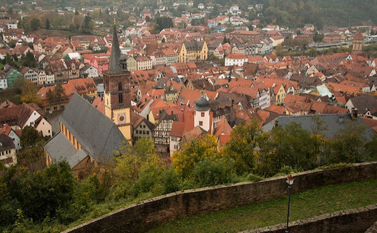 The quaint town of Baden-Baden is famous for its thermal baths