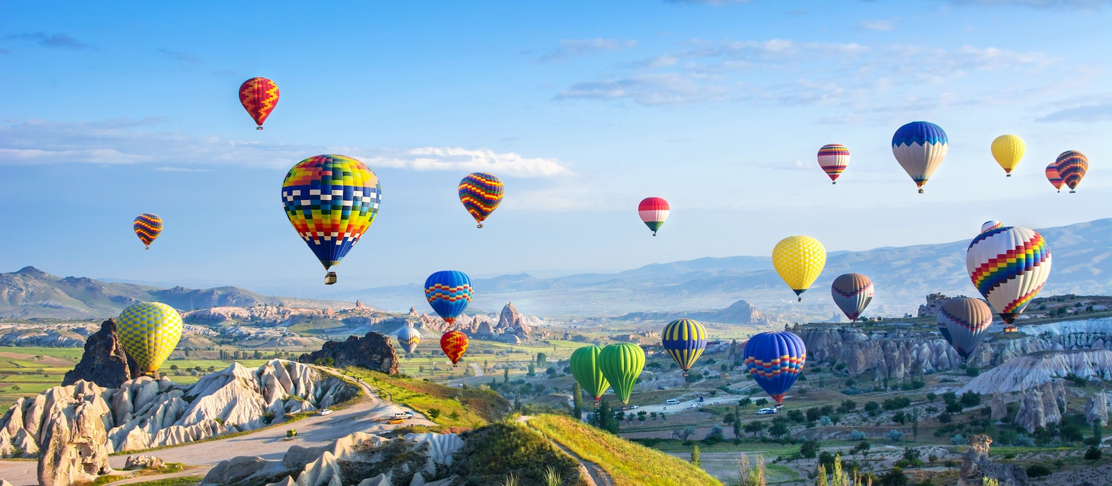 Cappadocia, Turkey, is famous for its unique rock formations and incredible hot air ballooning opportunities.