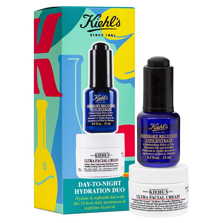 Save $13 on travel-size versions of Kiehl's Ultra Facial Cream and Midnight Recovery Concentrate.