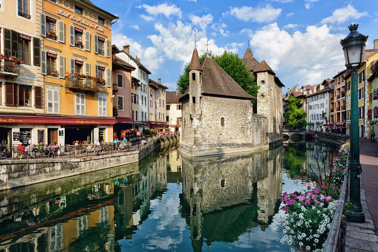 The town of Annecy looks like something out of a fairy tale.
